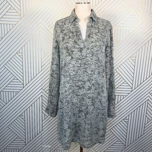 Anthropologie Cloth & Stone Green Floral Dress